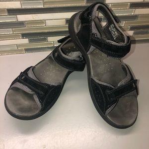 Clark's black water hiking sandals